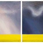 Canola Contrasts Diptych